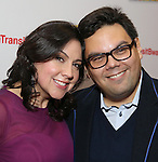 Kristem Anderson-Lopez and Robert Lopez attends the Broadway Opening Night Performance Press Reception for  'In Transit' at Circle in the Square Theatre on December 11, 2016 in New York City.