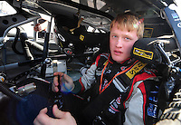 May 2, 2008; Richmond, VA, USA; NASCAR Nationwide Series driver Steve Wallace during qualifying prior to the Lipton Tea 250 at the Richmond International Raceway. Mandatory Credit: Mark J. Rebilas-US PRESSWIRE