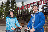 Charlie and Trina Jeanette, owners of a segway tour company in Fairbanks, Alaska.