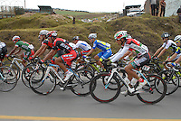 COLOMBIA. 09-08-2014. Julian Atehortua (#28) y Santiago Ojeda (#55) ciclistas durante la etapa 4, Nobsa – Duitama – Paipa – Tunja – Chía – Cota – 198.7 Km, de la Vuelta a Colombia 2014 en bicicleta que se cumple entre el 6 y el 17 de agosto de 2014. / Julian Atehortua (#28) and Santiago Ojeda (#55) cyclists during the stage 4, Nobsa – Duitama – Paipa – Tunja – Chía – Cota – 198.7 Km, of the Tour of Colombia 2014 in bike holds between 6 and 17 of August 2014. Photo:  VizzorImage/ José Miguel Palencia / Str