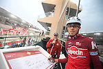 Ilnur Zakarin (RUS) Katusha-Alpecin at sign on before the the start of Stage 4 Yas Island Stage of the 2017 Abu Dhabi Tour, 143km with 26 laps of 5.5km of the Yas Marina Circuit, Abu Dhabi. 26th February 2017.<br /> Picture: ANSA/Claudio Peri | Newsfile<br /> <br /> <br /> All photos usage must carry mandatory copyright credit (&copy; Newsfile | ANSA)