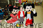 Santa Arriving On Saturday At Manor West Retail Centre. Pictured Minnie and Mickey with Clodagh Kennelly-McInerney Ardfert awaiting Santa