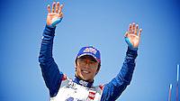 Takuma Sato, Milwaukee Indy Fest 250, Milwaukee Mile Speedway, Milwaukee, WI, August 2014.  (Photo by Brian Cleary/www.bcpix.com)