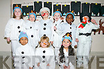 "In preparation for the ""Snowman at Sunset"" concert in Moyderwell primary school on Friday. Back row, from left: Lauren Doody, Ava Ward, Adrian Paluszak, Lara Johnston, Noel Roberts and William Sheerin.Front row, from left: Sofia Abdrhman, Maja Cieslak and Amanda Ardleanova."