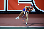 ATHENS, GA - MAY 23: Belinda Woolcock of the University of Florida serves against Stanford University during the Division I Women's Tennis Championship held at the Dan Magill Tennis Complex on the University of Georgia campus on May 23, 2017 in Athens, Georgia. (Photo by Steve Nowland/NCAA Photos via Getty Images)