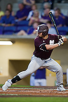Mississippi State Bulldog designated hitter Trey Porter #32 at bat against the LSU Tigers during the NCAA baseball game on March 16, 2012 at Alex Box Stadium in Baton Rouge, Louisiana. LSU defeated Mississippi State 3-2 in 10 innings. (Andrew Woolley / Four Seam Images)
