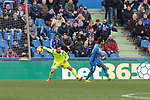 Real Sociedad's Miguel Angel Moya during La Liga match between Getafe CF and Real Sociedad at Coliseum Alfonso Perez in Getafe, Spain. December 15, 2018. (ALTERPHOTOS/A. Perez Meca)