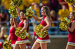 2 November 2013: Boston College Eagles cheerleaders entertain fans in the third quarter against the Virginia Tech Hokies at Alumni Stadium in Chestnut Hill, MA. The Eagles defeated the Hokies 34-27. Mandatory Credit: Ed Wolfstein-USA TODAY Sports *** RAW (NEF) Image File Available ***