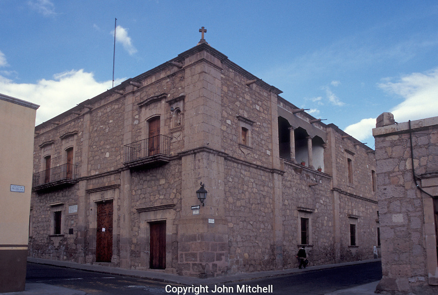 The Museo Casa de Morelos n the city of Morelia, Michoacan, Mexico. This former home of Mexican independence leader Jose Maria Morelos is now a museum.