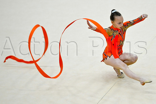 26.06.2011 British Rhythmic Gymnastics Championships from Fenton Manor in Stoke on Trent.Helena Stiles in action