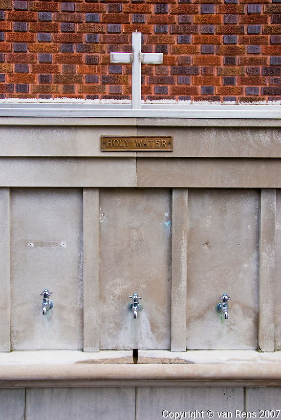Holy Water fountain at the National Shrine of Our Lady of Consolation in Carey, OH.