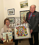 Frank Godfrey and Ann Somers with some of her fathers work<br /> <br /> Photo - Jenny Matthews