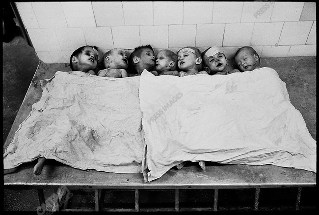 Young AIDS victims  in the morgue of the Virology and Infectious Diseases Hospital in Constanta. Romania,  January 1990