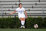 11 September 2016: Duke's Taylor Racioppi. The Duke University Blue Devils hosted the High Point University Panthers at Koskinen Stadium in Durham, North Carolina in a 2016 NCAA Division I Women's Soccer match. Duke won the match 4-1.
