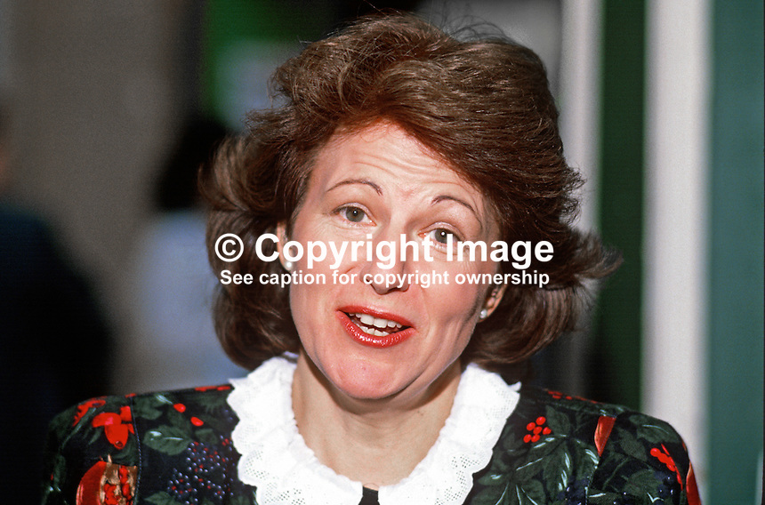 Emma Nicholson, MP, Conservative Party, UK, 19871041EN1<br /> <br /> Copyright Image from Victor Patterson, 54 Dorchester Park, Belfast, UK, BT9 6RJ<br /> <br /> t1: +44 28 9066 1296<br /> t2: +44 28 9002 2446<br /> m: +44 7802 353836<br /> <br /> e1: victorpatterson@me.com<br /> e2: victorpatterson@gmail.com<br /> <br /> www.victorpatterson.com<br /> <br /> IMPORTANT: Please see my Terms and Conditions of Use at www.victorpatterson.com