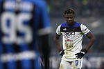 Duvan Zapata of Atalanta reacts during the Serie A match at Giuseppe Meazza, Milan. Picture date: 11th January 2020. Picture credit should read: Jonathan Moscrop/Sportimage
