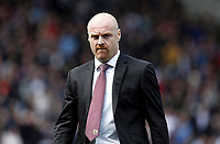 Burnley manager Sean Dyche <br /> <br /> Photographer Rich Linley/CameraSport<br /> <br /> The Premier League - Burnley v Leicester City - Saturday 14th April 2018 - Turf Moor - Burnley<br /> <br /> World Copyright &copy; 2018 CameraSport. All rights reserved. 43 Linden Ave. Countesthorpe. Leicester. England. LE8 5PG - Tel: +44 (0) 116 277 4147 - admin@camerasport.com - www.camerasport.com
