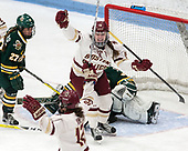 Erin Connolly (BC - 15) -  The Boston College Eagles defeated the University of Vermont Catamounts 4-3 in double overtime in their Hockey East semi-final on Saturday, March 4, 2017, at Walter Brown Arena in Boston, Massachusetts.