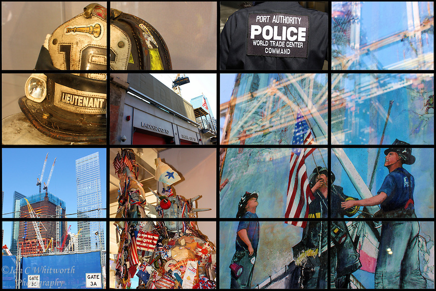 A collage of the views around the World Trade Center site and it's rebuilding