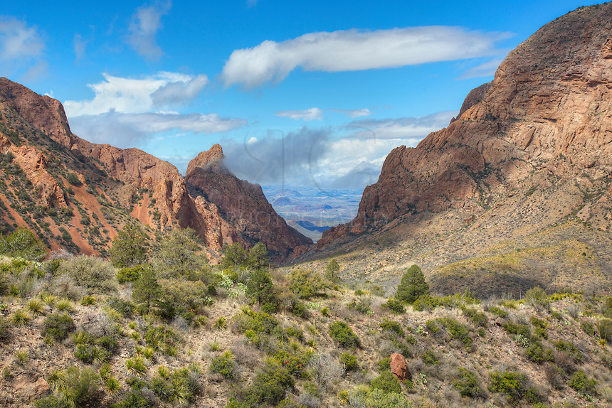 Near the visitor center and Chisos Mountain Lodge, you this view of the Window at Big Bend National Park offers expansive views of the western slope.