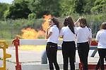 Women in Engineering<br /> Pupils from Ysgol Garth Olwg visiting Wales &amp; West Utilities fire training facility in Cardiff.<br /> 23.06.14<br /> &copy;Steve Pope-FOTOWALES