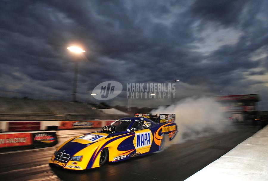 Jan. 18, 2012; Jupiter, FL, USA: NHRA funny car driver Ron Capps during testing at the PRO Winter Warmup at Palm Beach International Raceway. Mandatory Credit: Mark J. Rebilas-