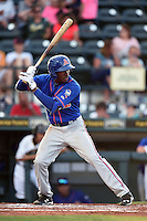 St. Lucie Mets outfielder Champ Stuart (7) at bat during a game against the Bradenton Marauders on April 11, 2015 at McKechnie Field in Bradenton, Florida.  St. Lucie defeated Bradenton 3-2.  (Mike Janes/Four Seam Images)