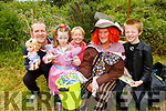 Maeve Crean (Knocknagoshel) celebrating her birthday at the Enchanted Festival in Kilflynn on Sunday. <br /> L to r: Maeve, Steven, AnnMarie and Sean Creen and Pat Lynch (Mad Hatter).