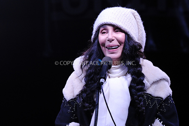 www.acepixs.com<br /> January 19, 2017  New York City<br /> <br /> Cher speaks during the We Stand United Rally outside Trump International Hotel &amp; Tower on January 19, 2017 in New York City.<br /> <br /> Credit: Kristin Callahan/ACE Pictures<br /> <br /> Tel: 646 769 0430<br /> Email: info@acepixs.com