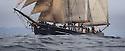 THE BESSIE ELLEN TRAVEL FEATURE.<br /> The Bessie Ellen sailing off the coast of Mull in the Inner Hebrides, Scotland<br /> Photo:Clare Kendall<br /> 19/05/2016.