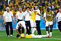 (L-R) Thiago Silva, Luiz Felipe Scolari (BRA),<br /> JUNE 28, 2014 - Football / Soccer :<br /> Thiago Silva and Luiz Felipe Scolari of Brazil celebrate after winning the penalty shoot out during the FIFA World Cup Brazil 2014 Round of 16 match between Brazil 1(3-2)1 Chile at Estadio Mineirao in Belo Horizonte, Brazil. (Photo by D.Nakashima/AFLO)