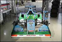 BNPS.co.uk (01202 558833)<br /> Pic: Bonhams/BNPS<br /> <br /> ***Please use full byline***<br /> <br /> Servicing could be an issue.<br /> <br /> One of the most historic F1 cars of all time is coming up for auction - with a glorious but poignant heritage.<br /> <br /> Its the Benetton F1 car which helped rising star Michael Schumacher win his first world championship in 1994.<br /> <br /> The German driver won four Grand Prix in this 1994 Benetton Cosworth Ford B194, including the famous Monaco race.<br /> <br /> But despite the historic car's successful history, it is linked to one of the darkest moments in motor racing history.<br /> <br /> Schumacher was driving this car immediately behind rival Ayrton Senna when the Brazilian driver was killed in a horrific 190mph crash at the Imola circuit in the 1994 San Marina GP.<br /> <br /> Schumacher climbed out of the vehicle moments after the accident and went on to win the race when it controversially restarted.<br /> <br /> The 200mph car is in perfect working order although you will need a F1 circuit to run the 3.5 litre 740bhp monster.<br /> <br /> Bonhams are selling the historic motor with a pre-sale estimate of &pound;600,000.