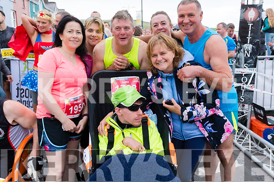 Mairead Keane O'Connor, Mary Ross, Gerard O'Grady, Luc Graham, Megs Graham, Sorcha Uí Shuilleabhain and Pat Sheehy at the Dingle Marathon on Saturday.