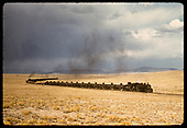 D&amp;RGW #499 K-37 hauling Gramps tank cars &amp; other freight. Double head engine in center of consist.<br /> D&amp;RGW  San Luis Valley ?, CO
