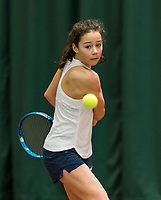Wateringen, The Netherlands, March 9, 2018,  De Reijenhof , NOJK 12/16 years, Loes Ebeling Koning (NED)<br /> Photo: www.tennisimages.com/Henk Koster