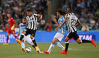 Calcio, finale Tim Cup: Juventus vs Lazio. Roma, stadio Olimpico, 20 maggio 2015.<br /> Juventus' Carlos Tevez, second from left, is challenged by Lazio's Mauricio during the Italian Cup final football match between Juventus and Lazio at Rome's Olympic stadium, 20 May 2015.<br /> UPDATE IMAGES PRESS/Isabella Bonotto