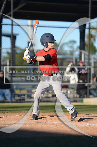Ricky Offenberg (19) of Westport, Connecticut participates in the Baseball Factory All-America Pre-Season Rookie Tournament, powered by Under Armour, at Lake Myrtle Sports Complex on January 18, 2014 in Auburndale, Florida.  (Copyright Mike Janes Photography)