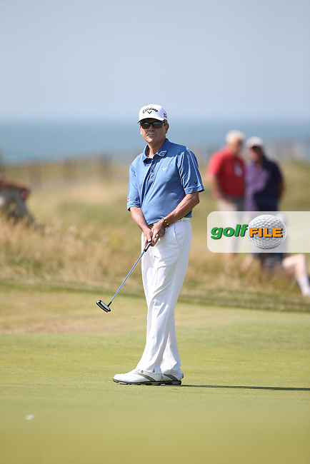 Mark McNulty (IRL) during Round One of the 2014 Senior Open Championship presented by Rolex from Royal Porthcawl Golf Club, Porthcawl, Wales. Picture:  David Lloyd / www.golffile.ie