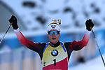 14/12/2019, Hochfilzen, Austria. Biathlon World Cup IBU 2019 Hochfilzen.<br /> Men 12.5 km pursuit race,  Johannes Thingens Boe (NOR)