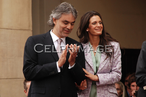 ANDREA BOCELLI, VERONICA BERTI. Virtuoso tenor Andrea Bocelli is honored with a star on the Hollywood Walk of Fame. Hollywood, CA, USA. March 2, 2010.