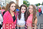 Cara Twomey, Saoirse Casey and Khala Houhlie (Castleisland) pictured at the Union J concert at Denny Street on Friday.
