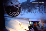 Snow removal on Christmas morning at the Silver Fork Lodge, Cottonwood Canyon, Utah