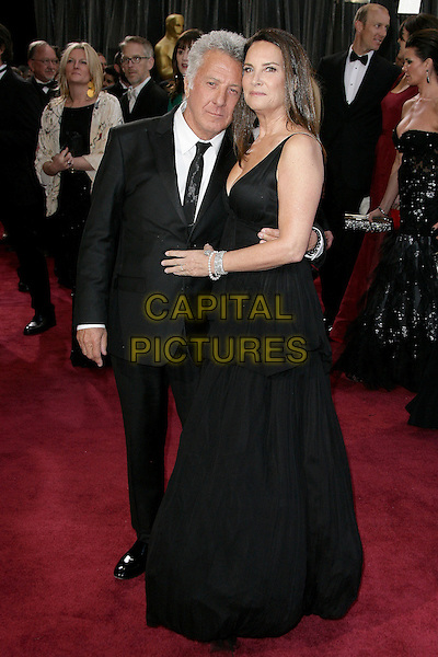 Dustin Hoffman & Lisa Gottsegen.85th Annual Academy Awards held at the Dolby Theatre at Hollywood & Highland Center, Hollywood, California, USA..February 24th, 2013.oscars full length dress married husband wife black white tie suit shirt .CAP/ADM.©AdMedia/Capital Pictures.