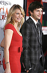 """Actress Cameron Diaz and Actor Ashton Kutcher arrive at the Premiere Of Fox's """"What Happens In Vegas"""" on May 1, 2008 at the Mann Village Theatre in Los Angeles, California."""