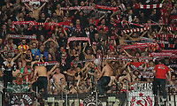 Fans aus Lüttich - 24.10.2019:  Eintracht Frankfurt vs. Standard Lüttich, UEFA Europa League, Gruppenphase, Commerzbank Arena<br /> DISCLAIMER: DFL regulations prohibit any use of photographs as image sequences and/or quasi-video.