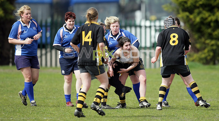 PICTURE BY VAUGHN RIDLEY/SWPIX.COM - Rugby Union - Scottish Hydro Electric Cup Finals Day - Women's Plate Final - Kirkcaldy LRFC v Glasgow University WRFC - Murrayfield, Edinburgh, Scotland - 03/05/08...Copyright - Simon Wilkinson - 07811267706..Kirkcaldy v Glasgow University.