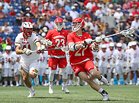 Annapolis, MD - May 20, 2018: Cornell Big Red a Connor Fletcher (27) attempts a shot during the quarterfinal game between Maryland vs Cornell at  Navy-Marine Corps Memorial Stadium in Annapolis, MD.   (Photo by Elliott Brown/Media Images International)