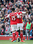 Arsenal's Granit Xhaka celebrates scoring his sides opening goal during the Premier League match at the Emirates Stadium, London. Picture date: May 7th, 2017. Pic credit should read: David Klein/Sportimage