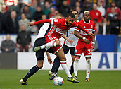 9th September 2017, Macron Stadium, Bolton, England; EFL Championship football, Bolton Wanderers versus Middlesbrough; Dael Fry of Middlesbrough rides the challenge of Mark Beevers of Bolton