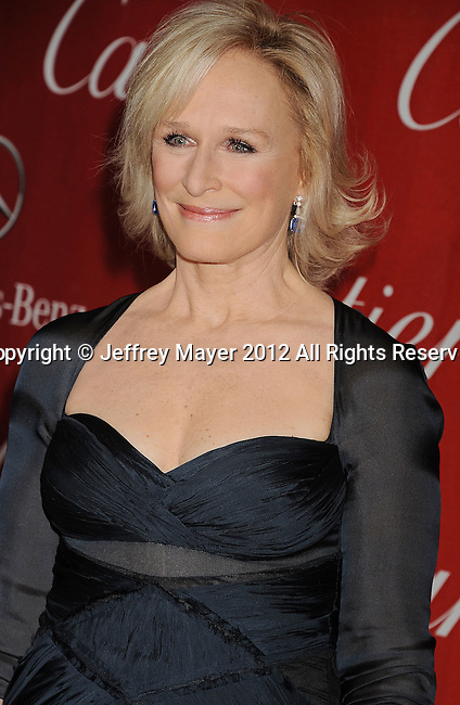 PALM SPRINGS, CA - JANUARY 07: Glenn Close arrives at the 2012 Palm Springs Film Festival Awards Gala at the Palm Springs Convention Center on January 7, 2012 in Palm Springs, California.
